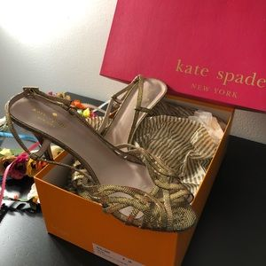 Like New Kate Spade Shari 100% Leather Heel Sandal